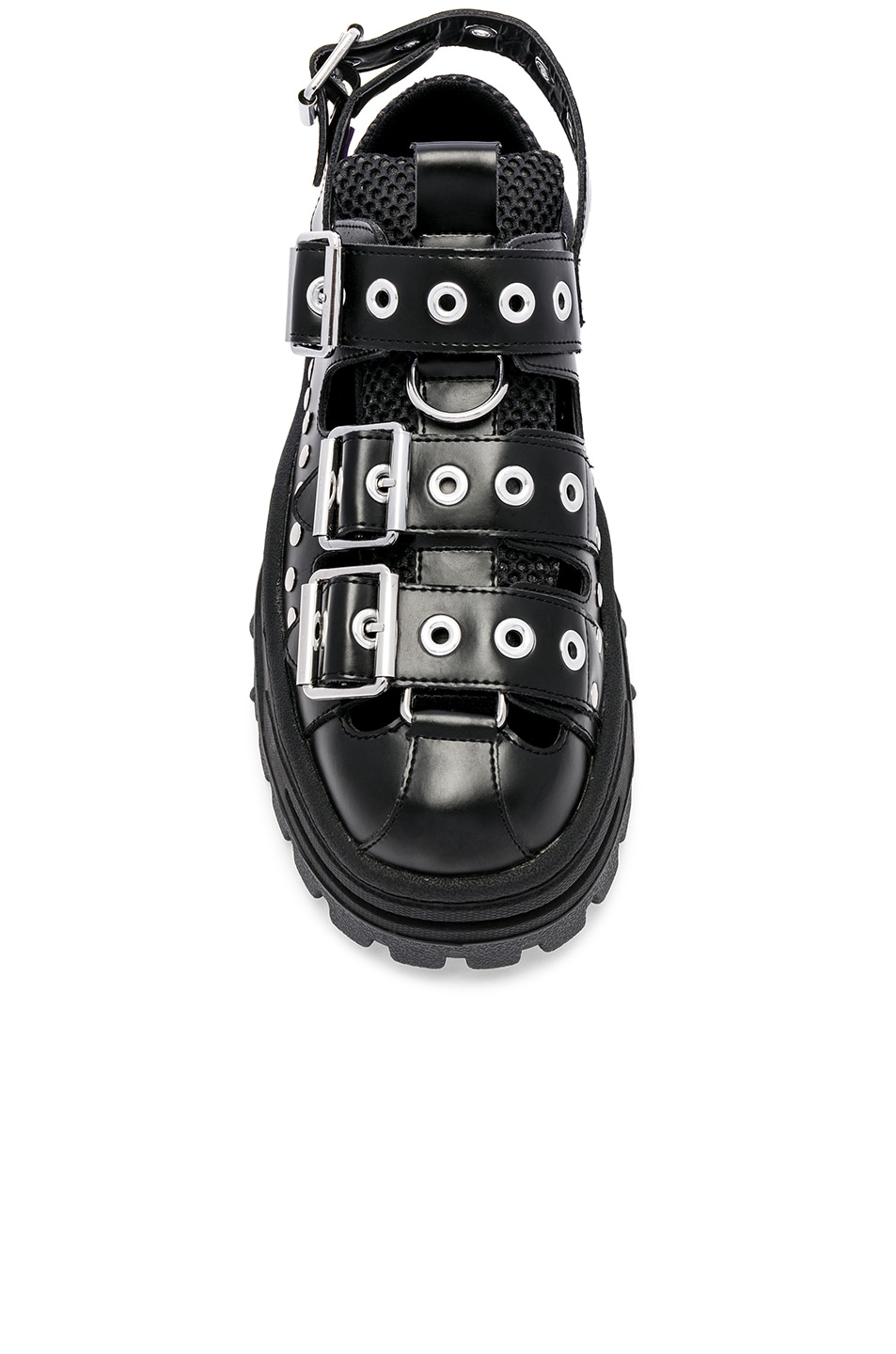 Image 4 of Eytys Athena Leather Sandal in Black