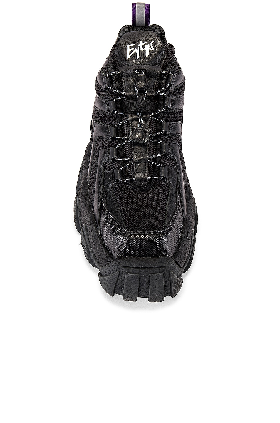 Image 4 of Eytys Halo Leather Sneaker in Black
