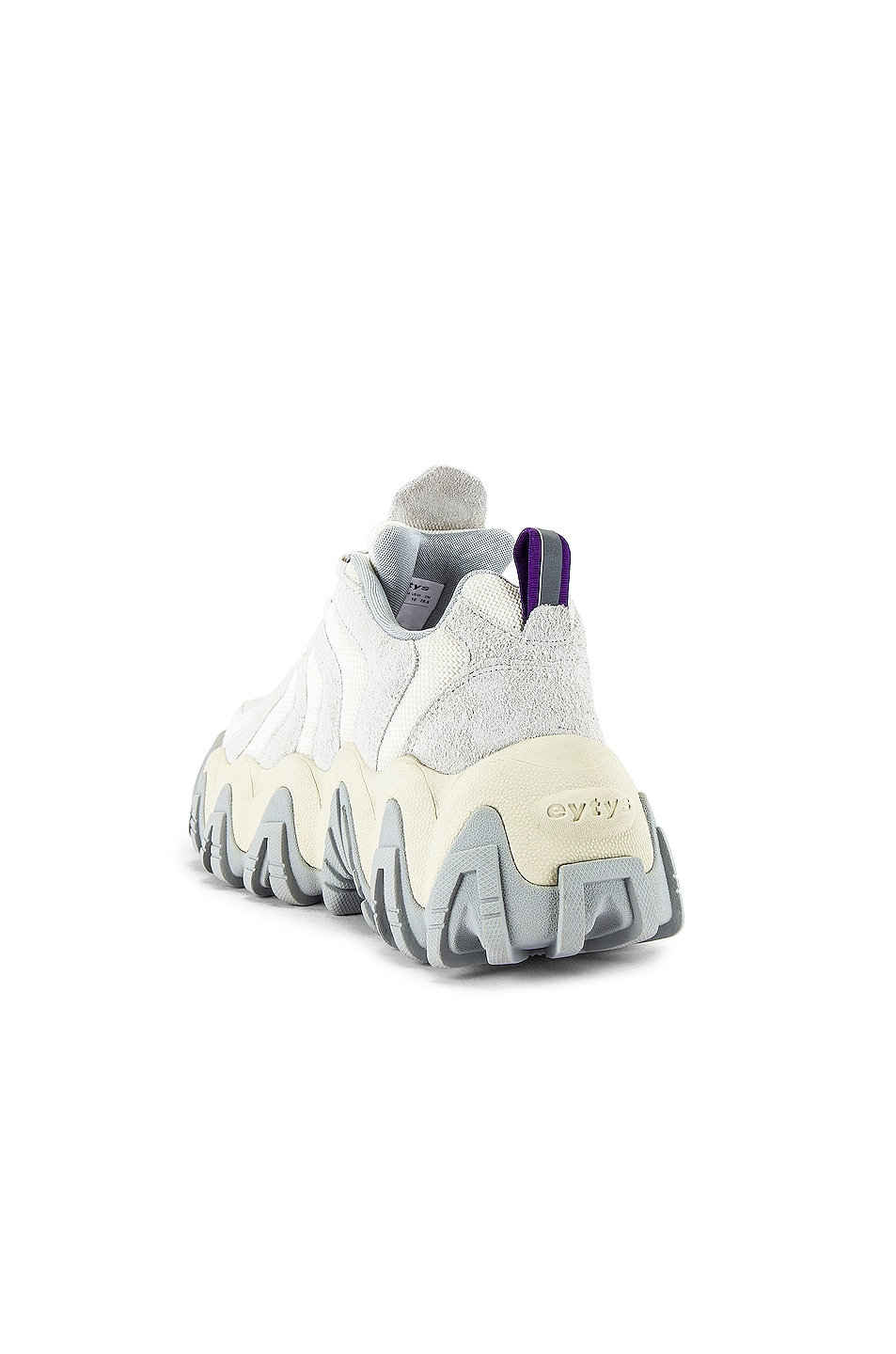 Image 3 of Eytys Halo Suede Sneaker in Off White