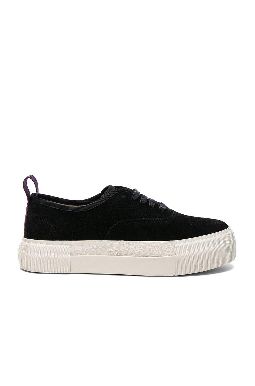 Image 1 of Eytys Suede Mother Sneakers in Black