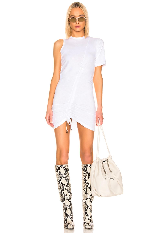 Image 1 of Faith Connexion Asymmetrical Dress in White