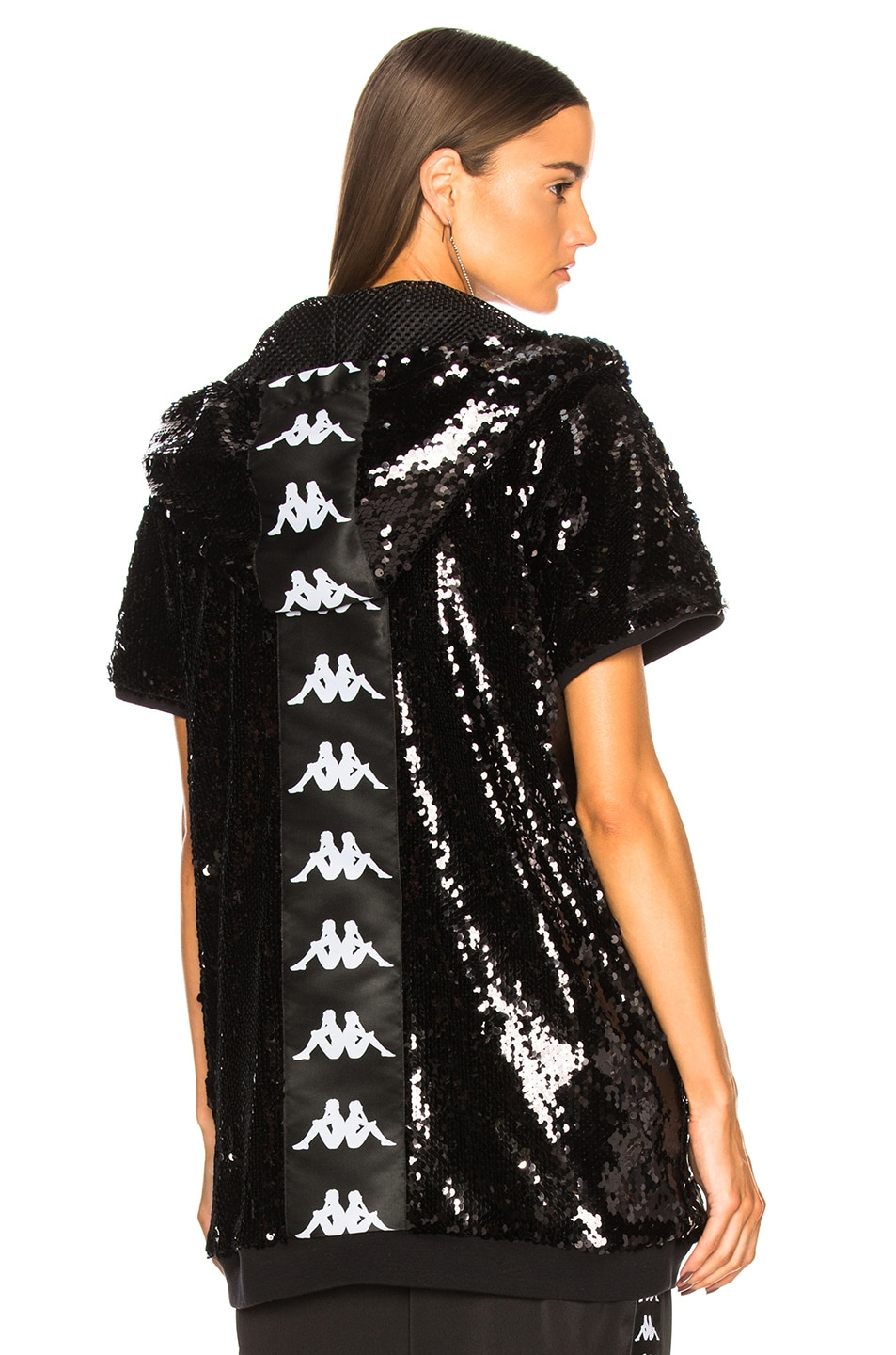 661ef3f9e49 Image 1 of Faith Connexion Kappa Sequin Hooded Sweater in Black