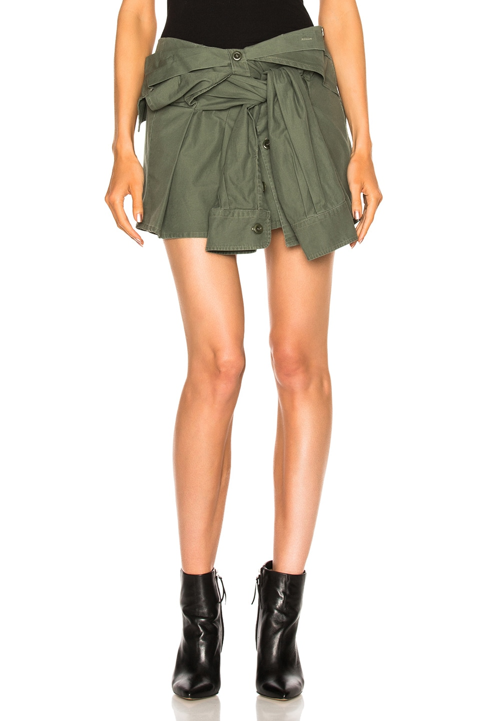 Image 1 of Faith Connexion Shirt Skirt in Khaki