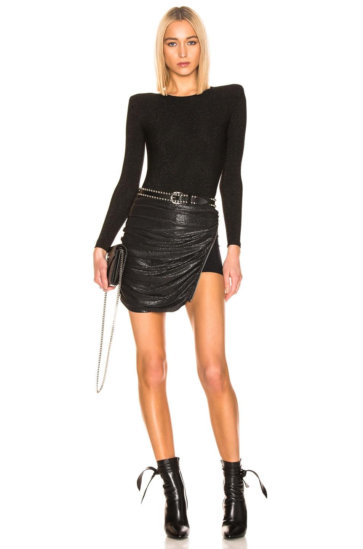 Image 5 of Faith Connexion Drape Tube Skirt in Black