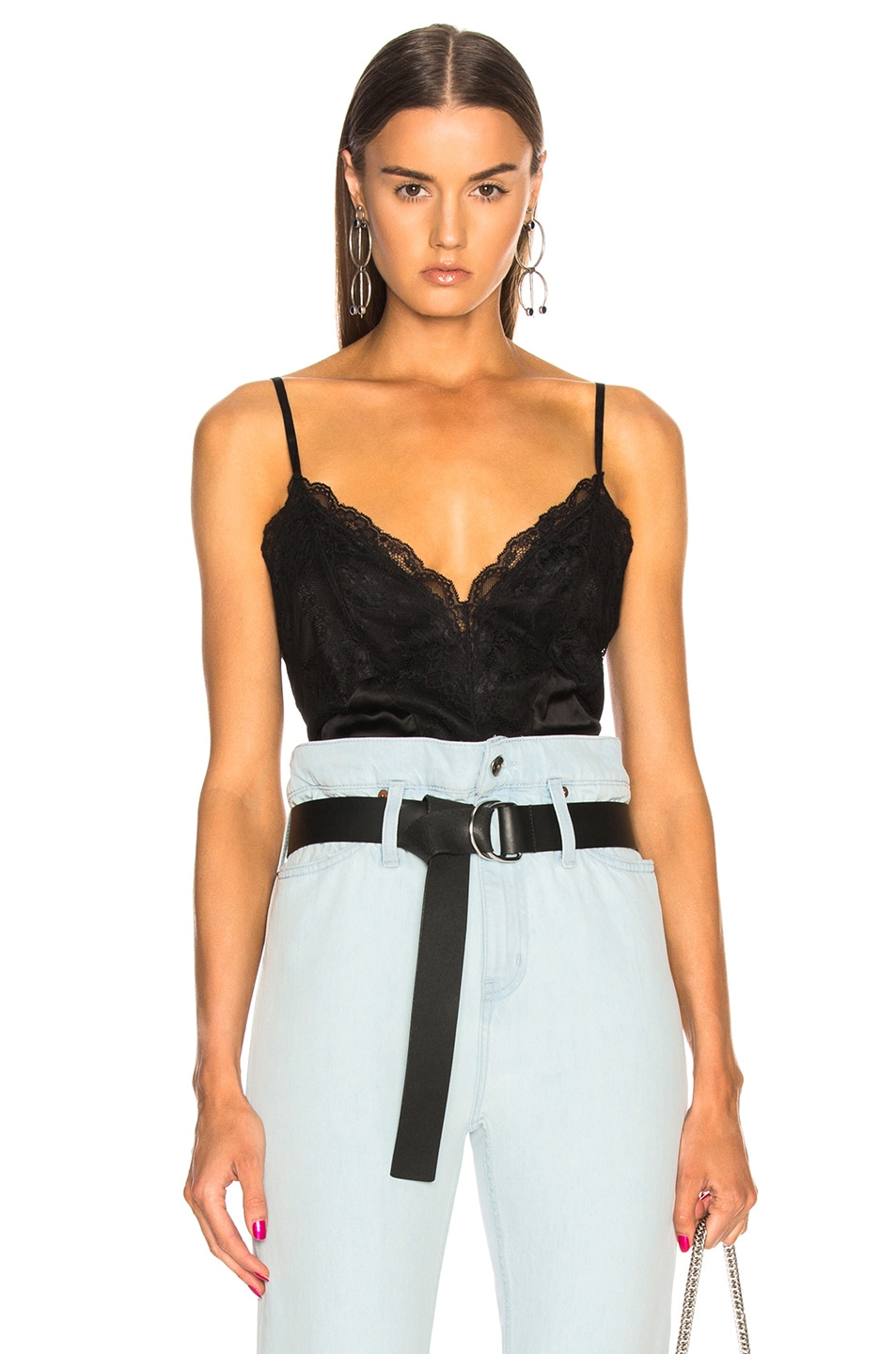 Image 1 of Faith Connexion Lace Top in Black