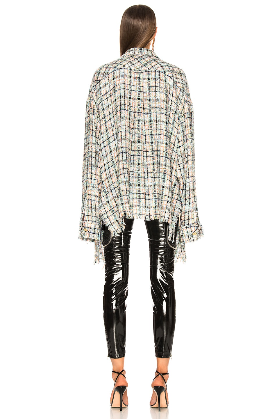 Image 3 of Faith Connexion Tweed Oversized Top in Multicolor