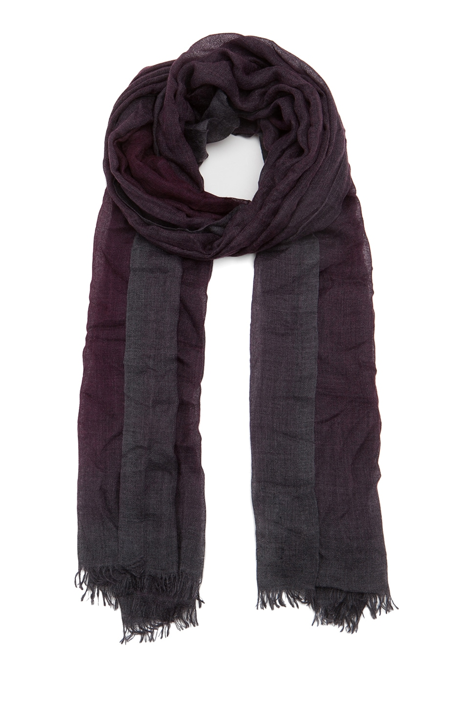 Image 1 of Faliero Sarti Dia Scarf in Burgundy & Grey
