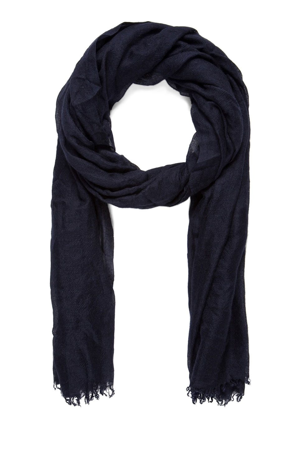 Image 1 of Faliero Sarti Dianetta Cashmere Silk Scarf in Navy