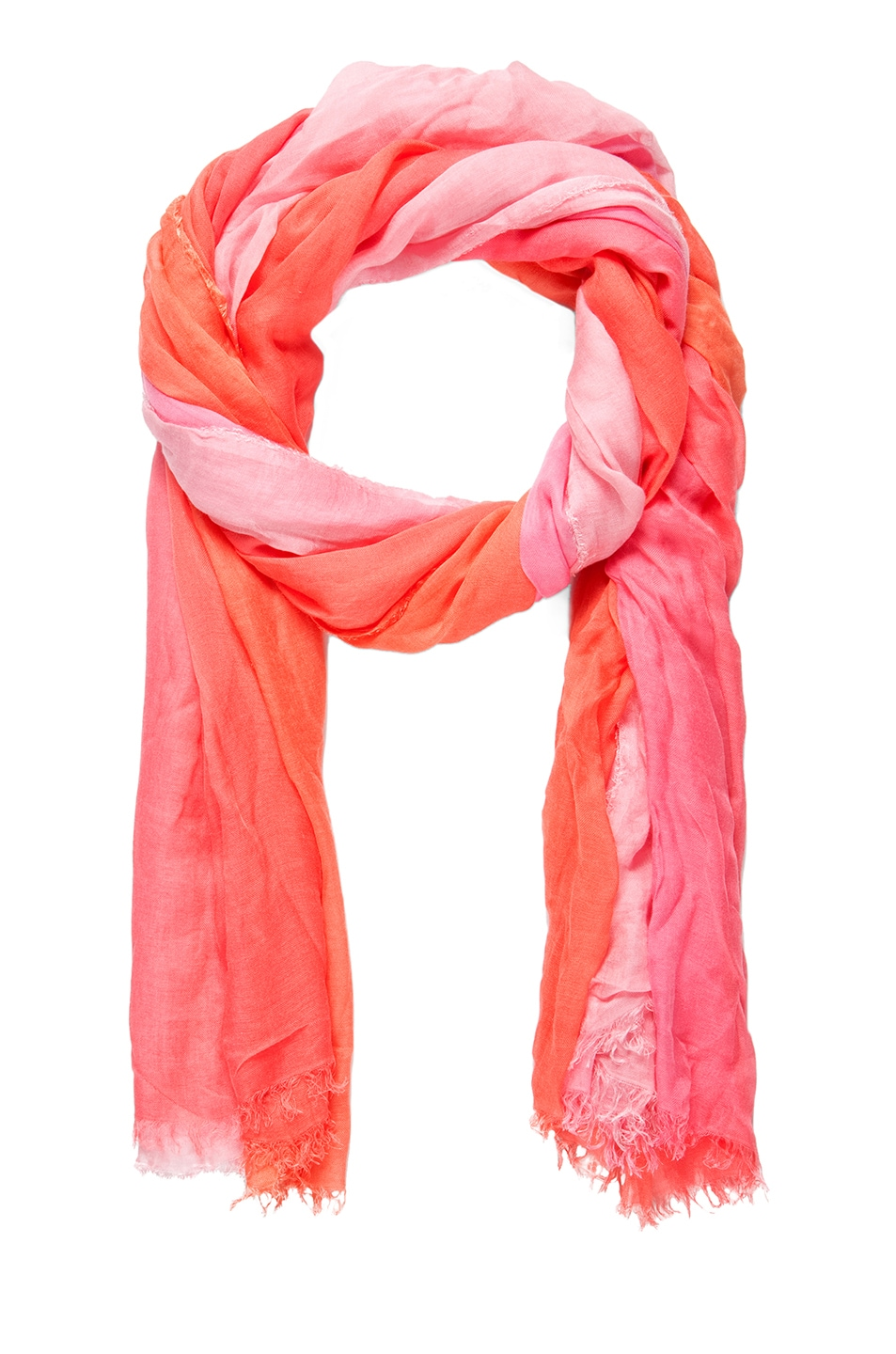 Image 1 of Faliero Sarti Ginevra Silk Ombre Scarf in Pink