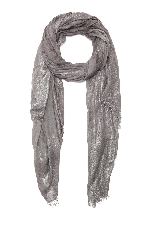 Image 1 of Faliero Sarti Mita Modal-Blend Scarf in Grey & Silver