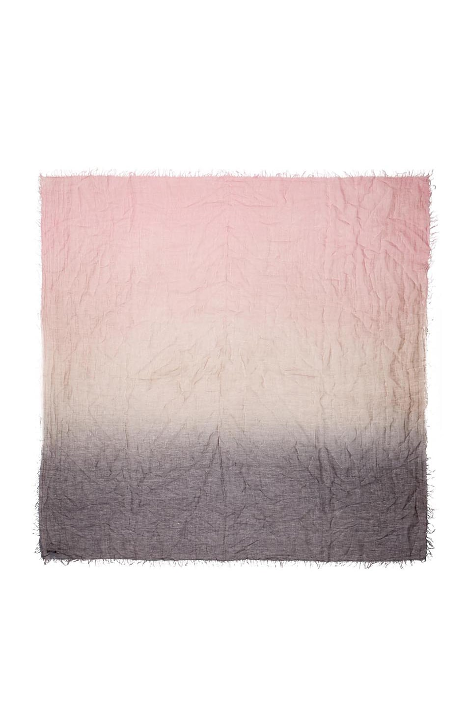 Image 1 of Faliero Sarti Shirly Linen & Cotton Scarf in Grey & Pink
