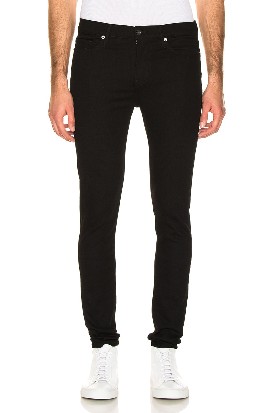 Image 1 of FRAME Jagger Skinny Jeans in Black