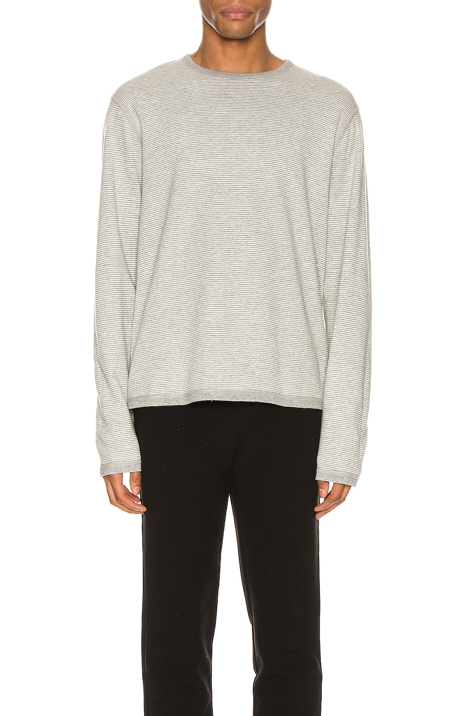 Image 2 of FRAME Reversible Duo Fold Crew in Grey