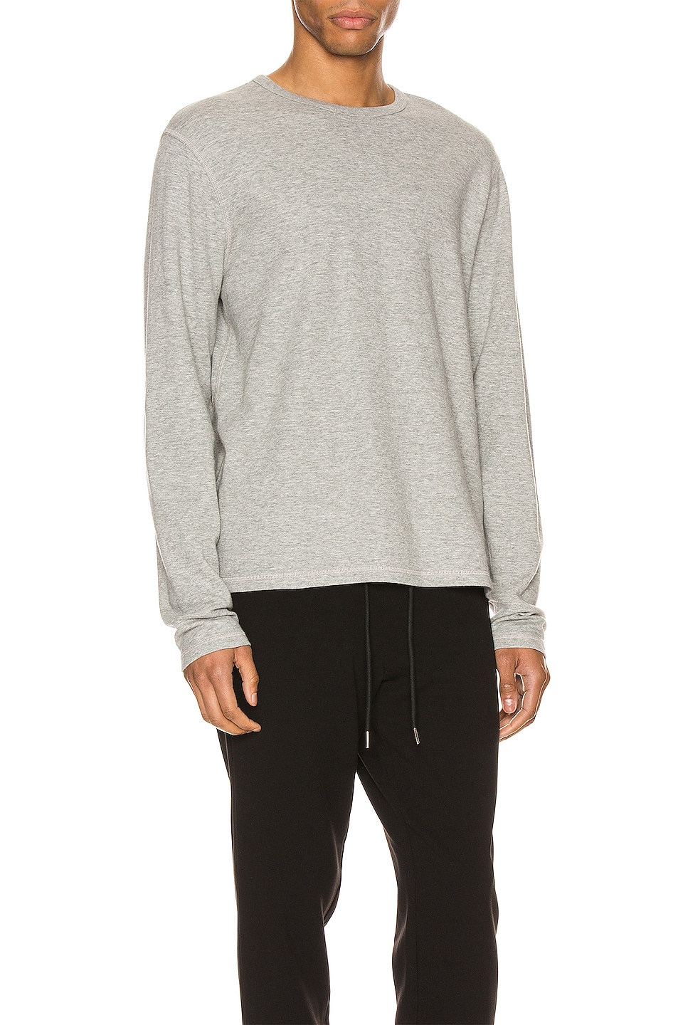 Image 3 of FRAME Reversible Duo Fold Crew in Grey