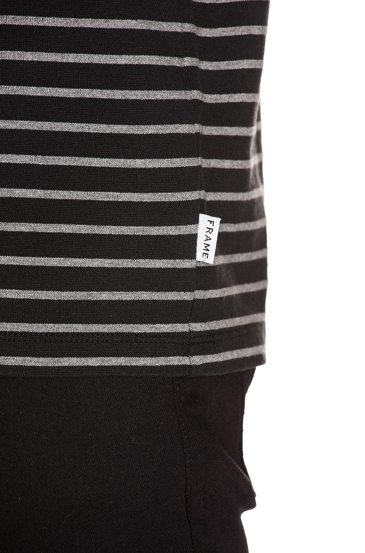 Image 6 of FRAME Short Sleeve Ringer Tee in Black Multi
