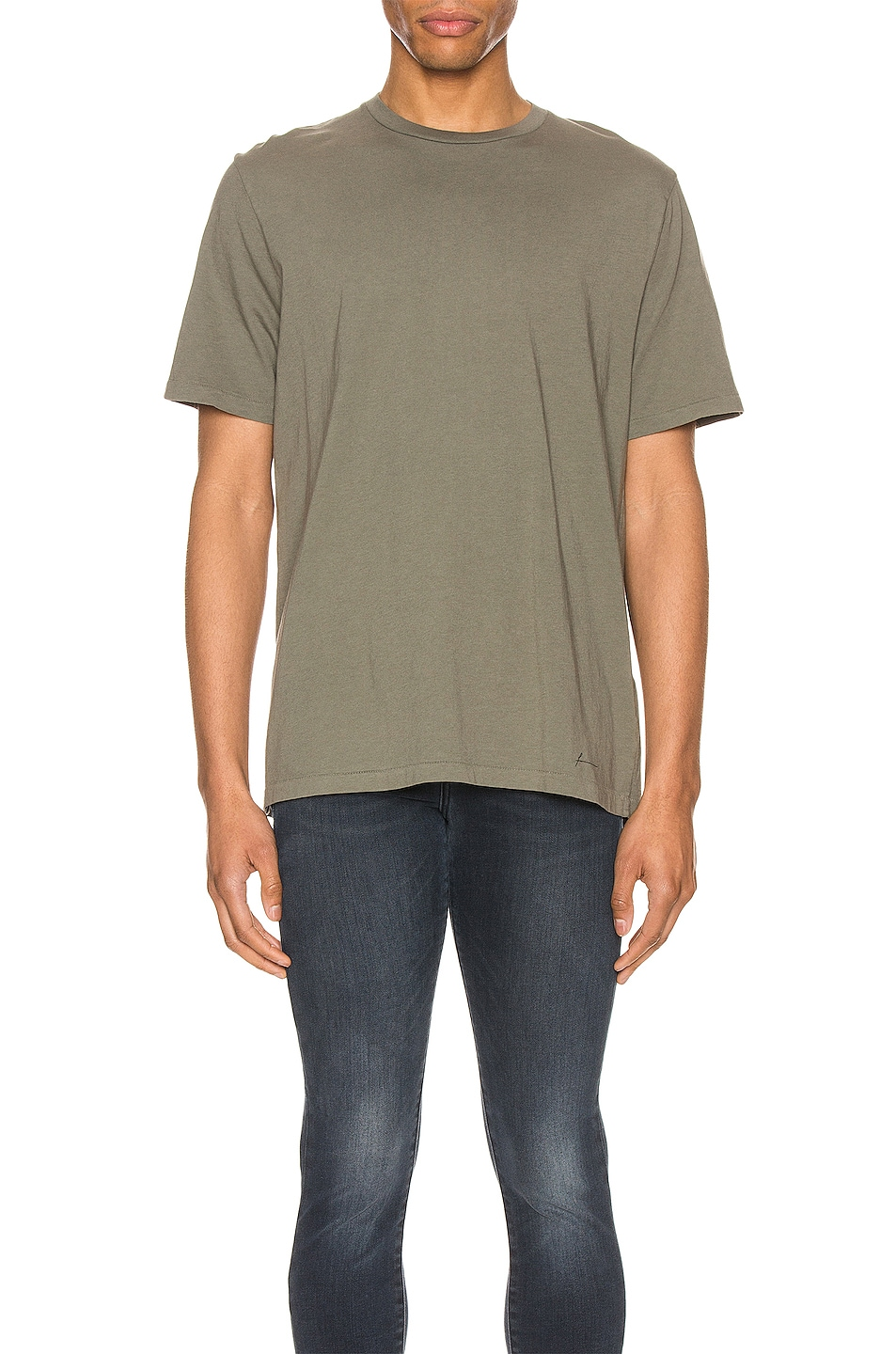 Image 1 of FRAME Perfect Tee in Deep Army