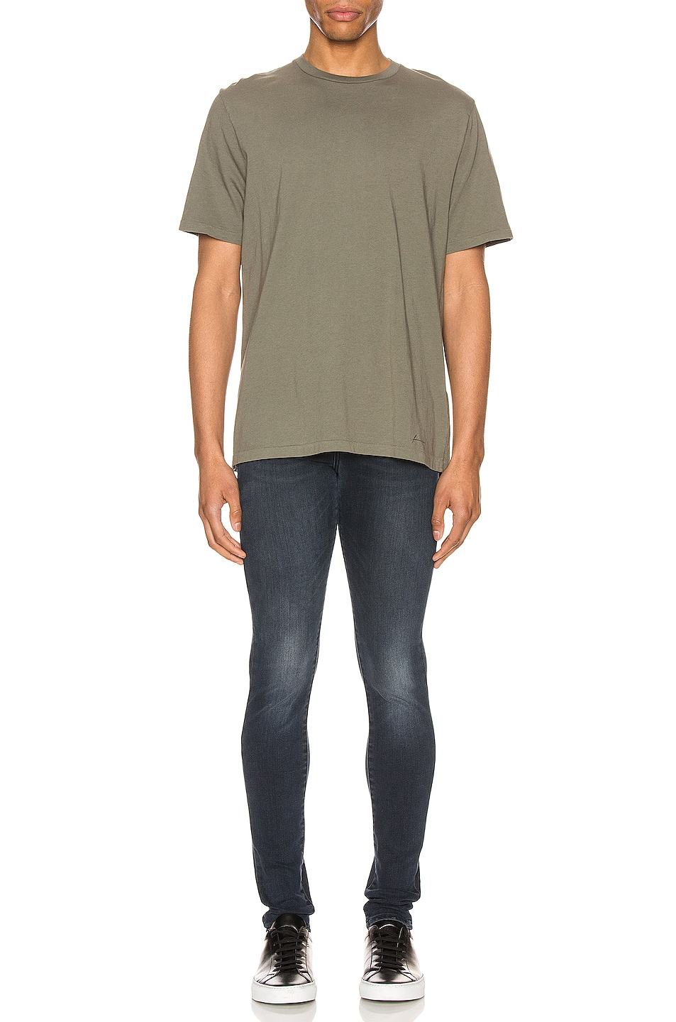 Image 4 of FRAME Perfect Tee in Deep Army