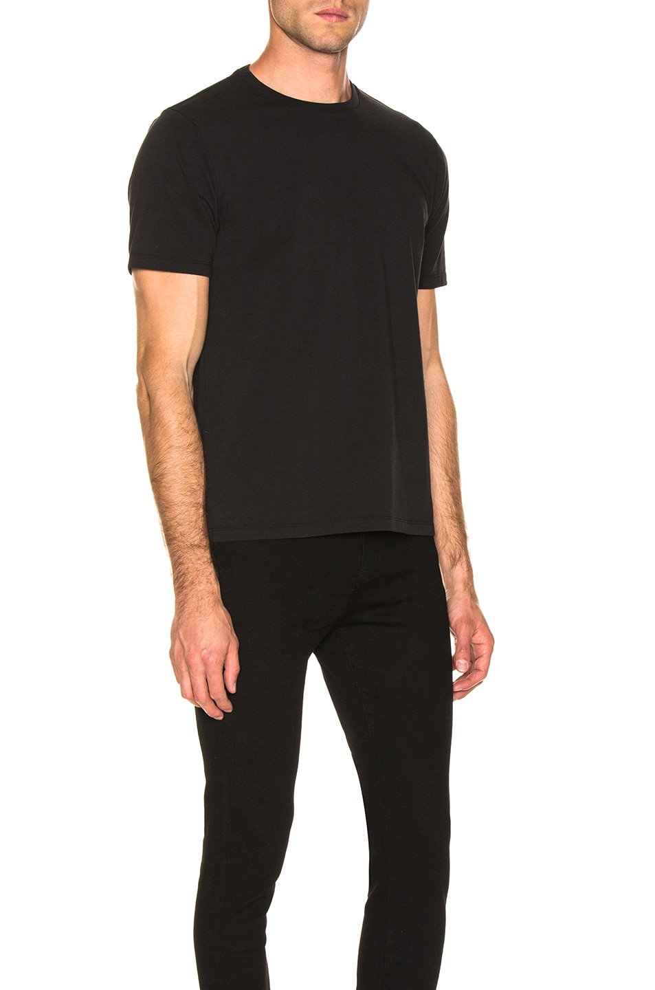 Image 2 of FRAME Heavyweight Classic Fit Tee in Black