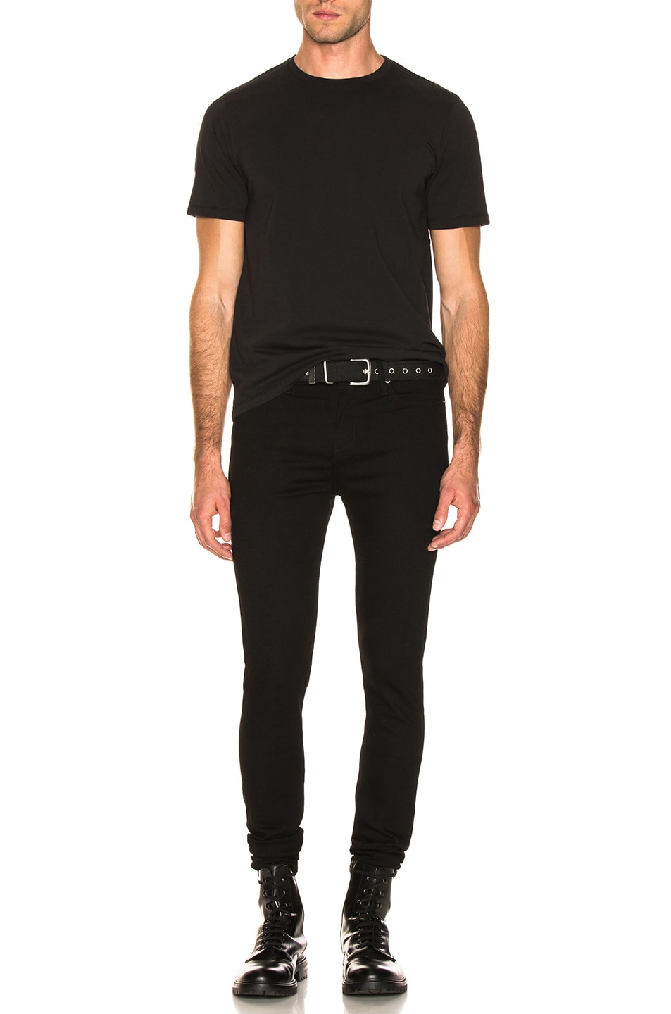Image 4 of FRAME Heavyweight Classic Fit Tee in Black