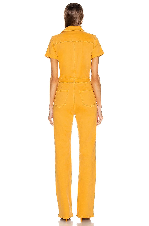 Image 3 of FRAME Le Flare De Francoise Belted Jumpsuit in Marigold