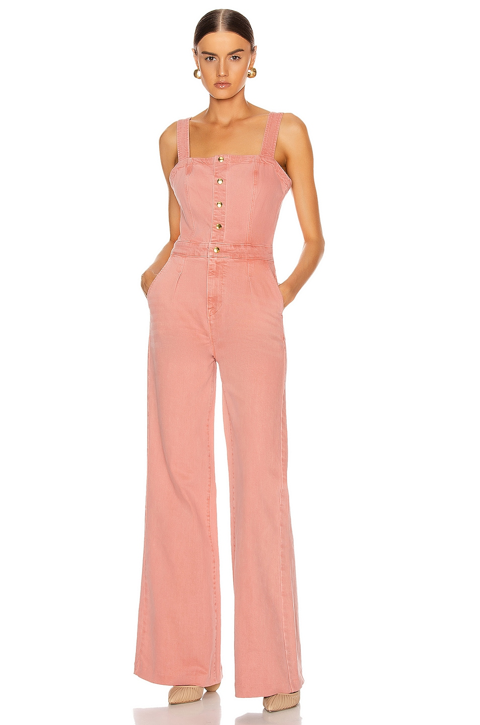 Image 1 of FRAME Vintage Jumpsuit in Peony