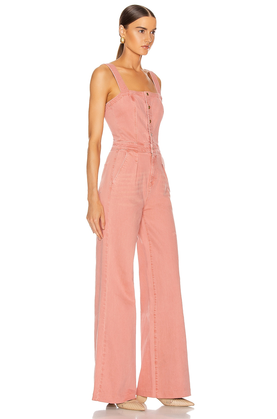 Image 2 of FRAME Vintage Jumpsuit in Peony