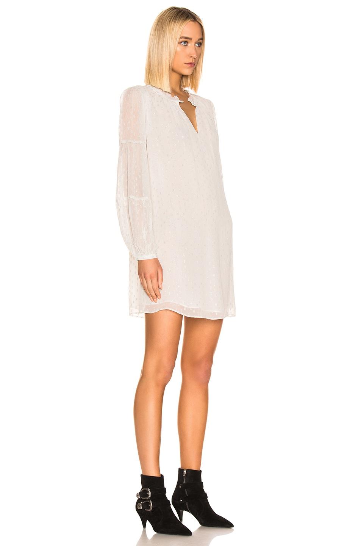Image 2 of FRAME Shirred Mock Dress in Off White Multi