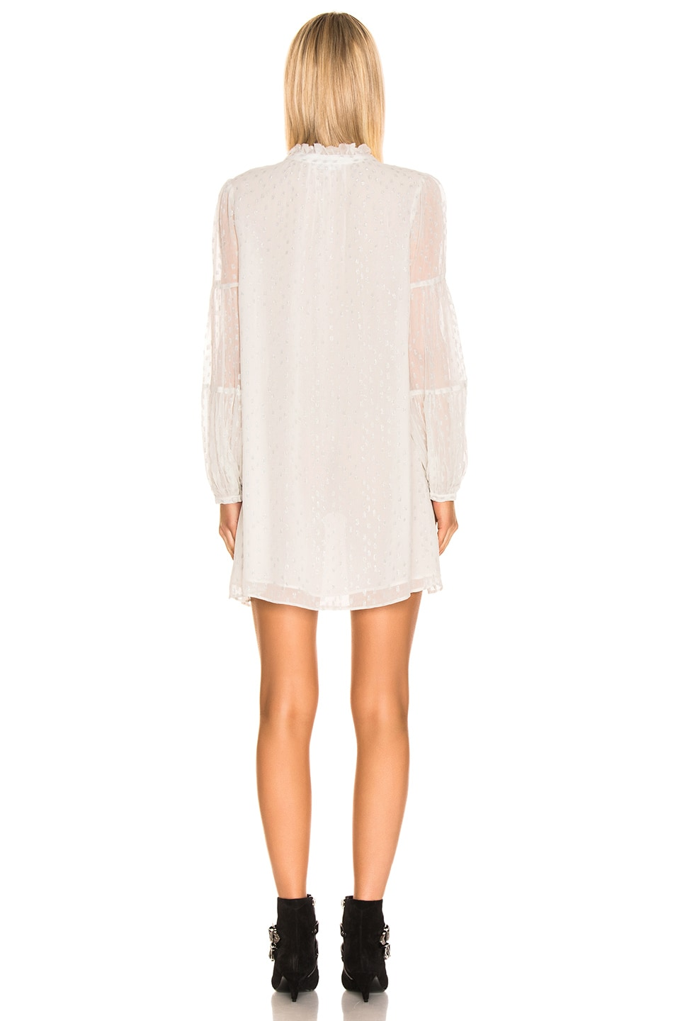 Image 3 of FRAME Shirred Mock Dress in Off White Multi