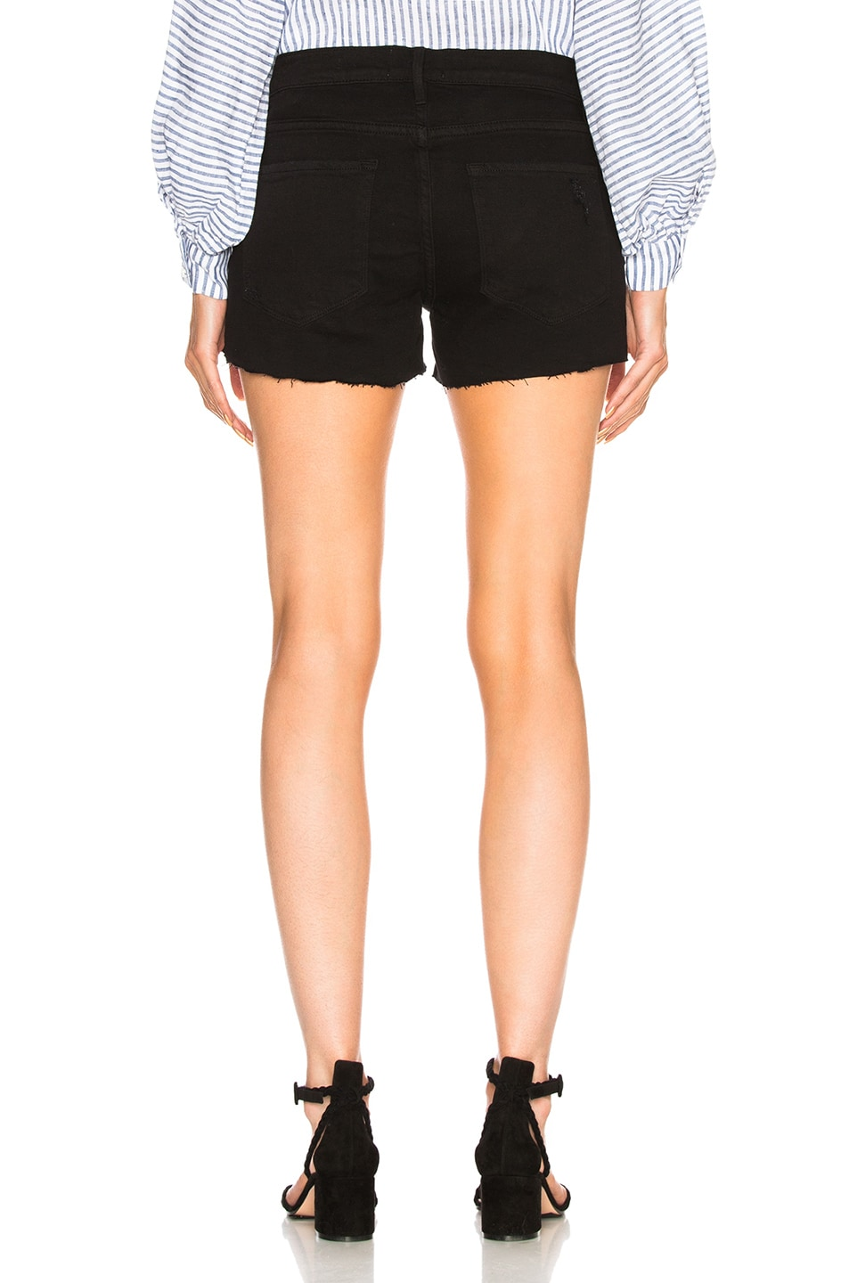 Image 3 of FRAME Le Cutoff Short in Noir Rookley