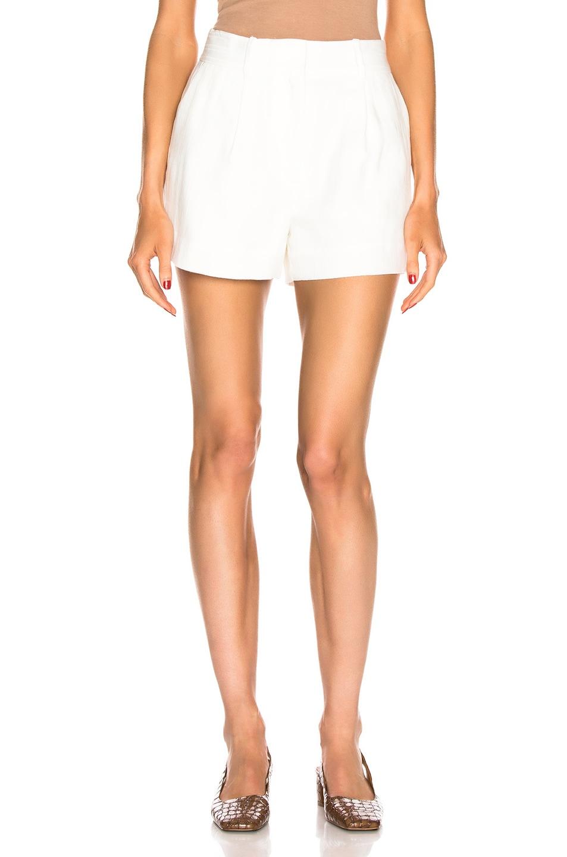 Image 1 of FRAME Fine Linen Short in Off White