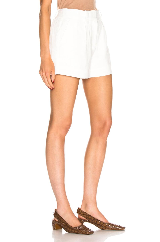 Image 2 of FRAME Fine Linen Short in Off White