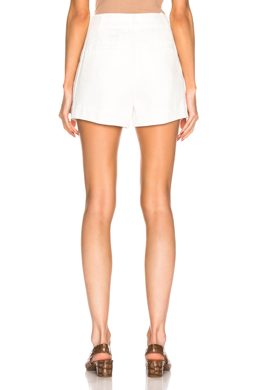 Image 3 of FRAME Fine Linen Short in Off White