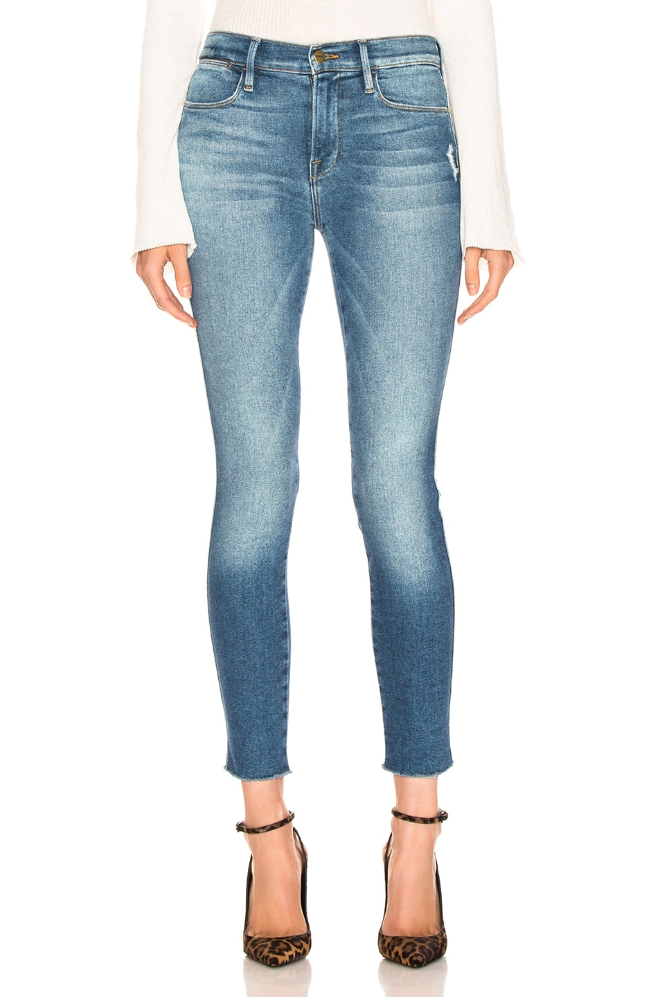 Image 1 of FRAME Le High Skinny Double Needle in Mcgrath