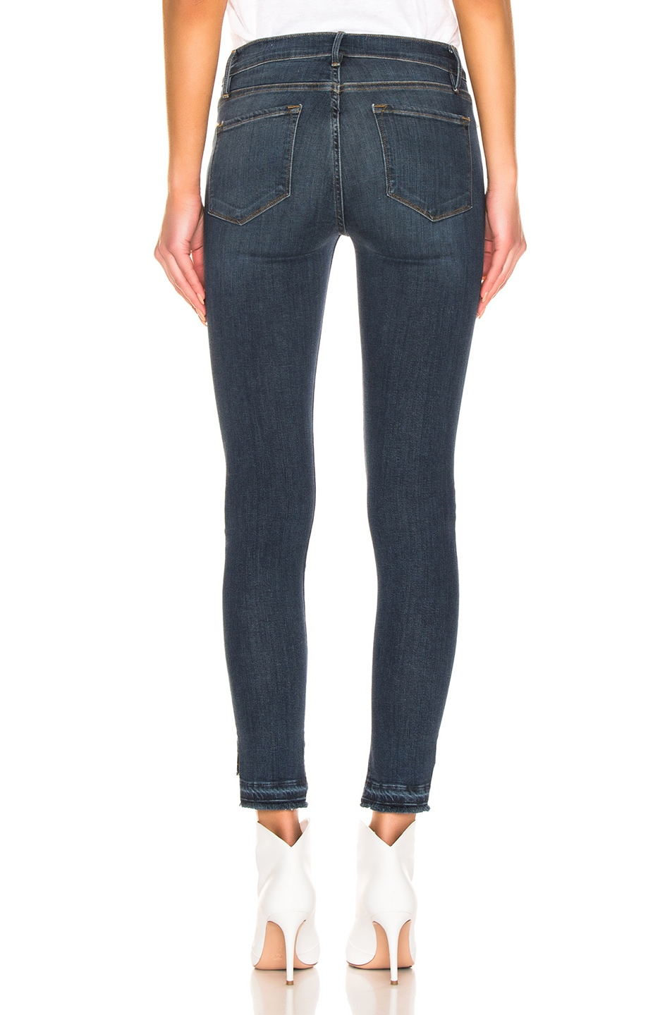 Image 3 of FRAME Le Skinny De Jeanne Release Stagger in Chez