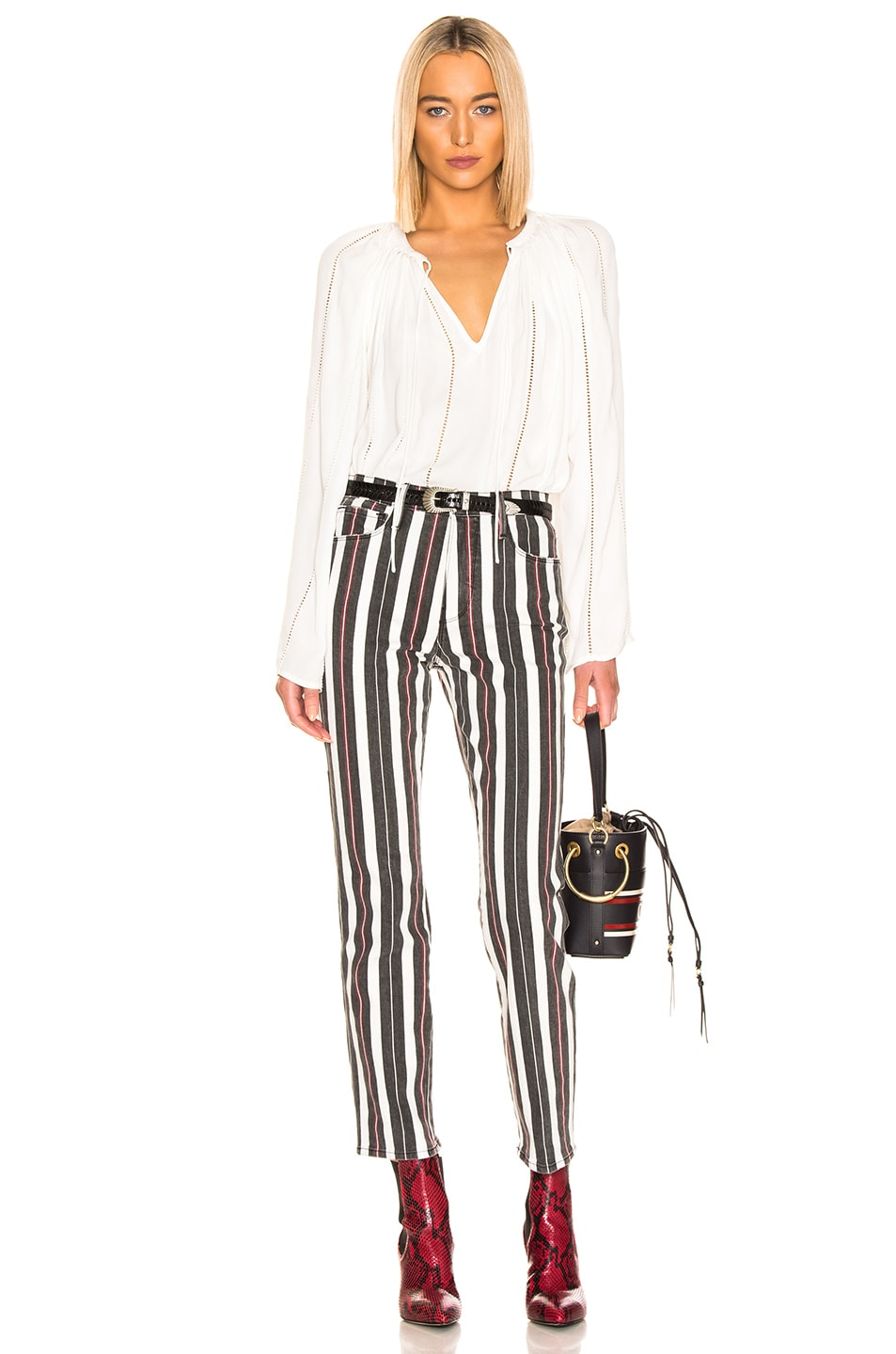 Image 4 of FRAME Le Sylvie in Band Stripe