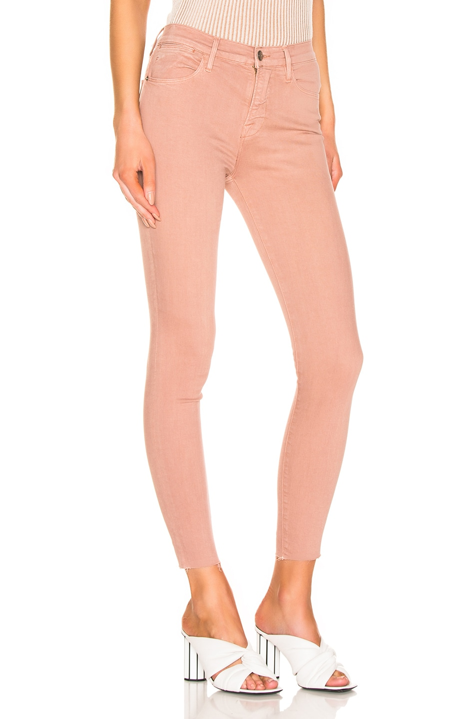 Image 2 of FRAME Le High Skinny in Dusty Rose