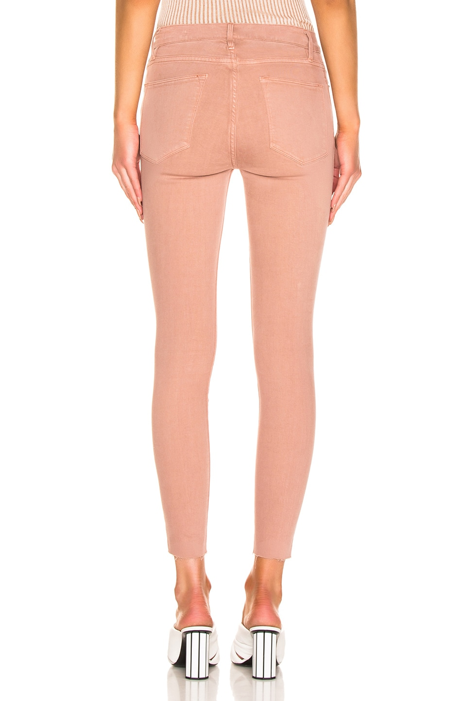 Image 3 of FRAME Le High Skinny in Dusty Rose