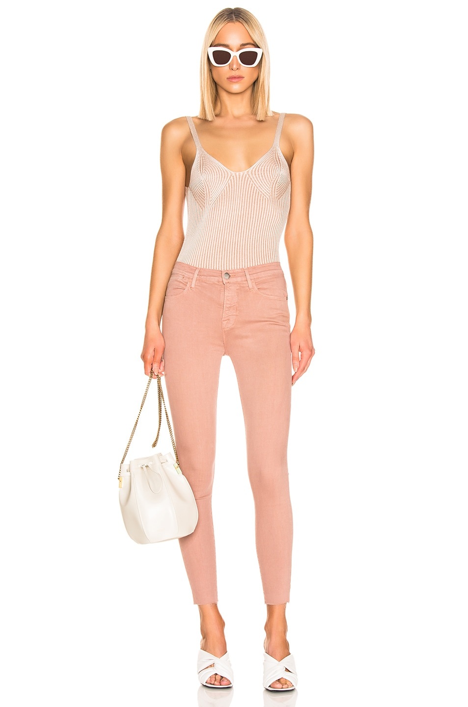 Image 4 of FRAME Le High Skinny in Dusty Rose