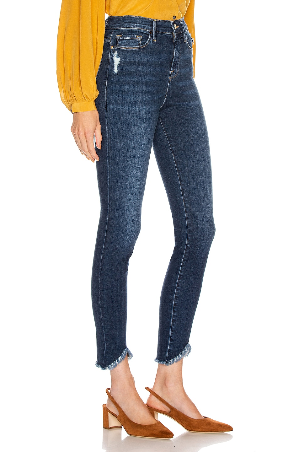 FRAME Ali High Rise Skinny Triangle Victory Blvd best