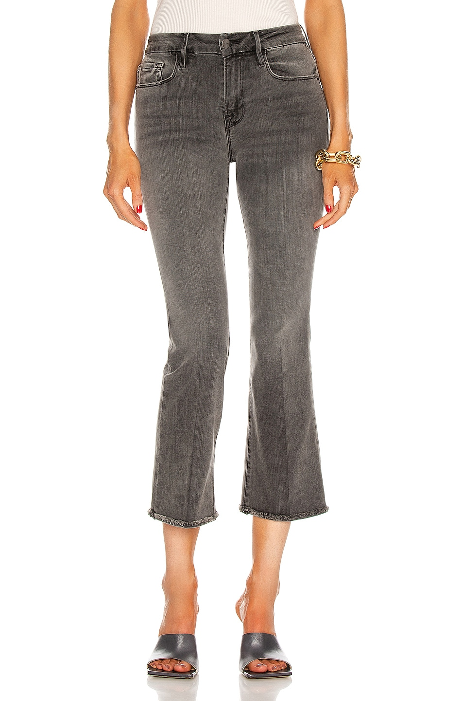 Image 1 of FRAME Le Crop Mini Boot Turn Back Hem in Octavia