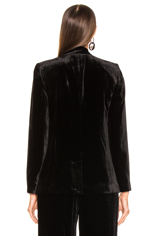 Image 4 of FRAME Velvet Tie Jacket in Noir