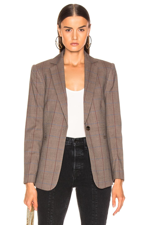 Image 1 of FRAME Classic Single Blazer in Brown Multi