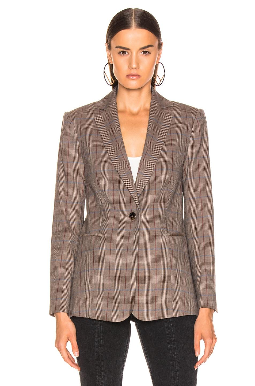 Image 2 of FRAME Classic Single Blazer in Brown Multi