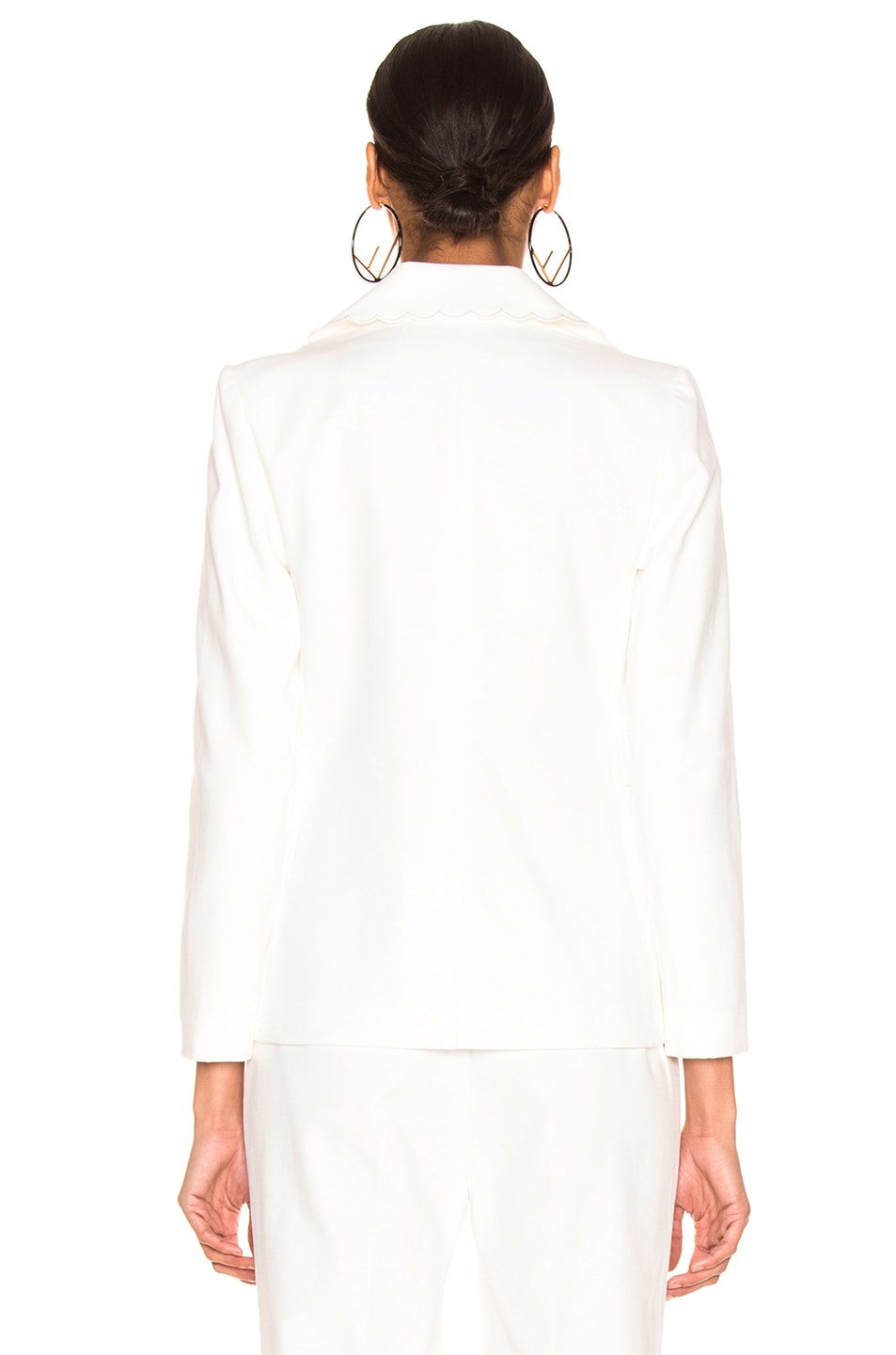 Image 4 of FRAME Scallop Blazer in Off White
