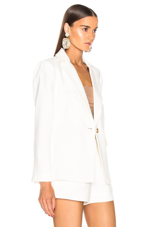 Image 3 of FRAME Classic Fine Blazer in Off White