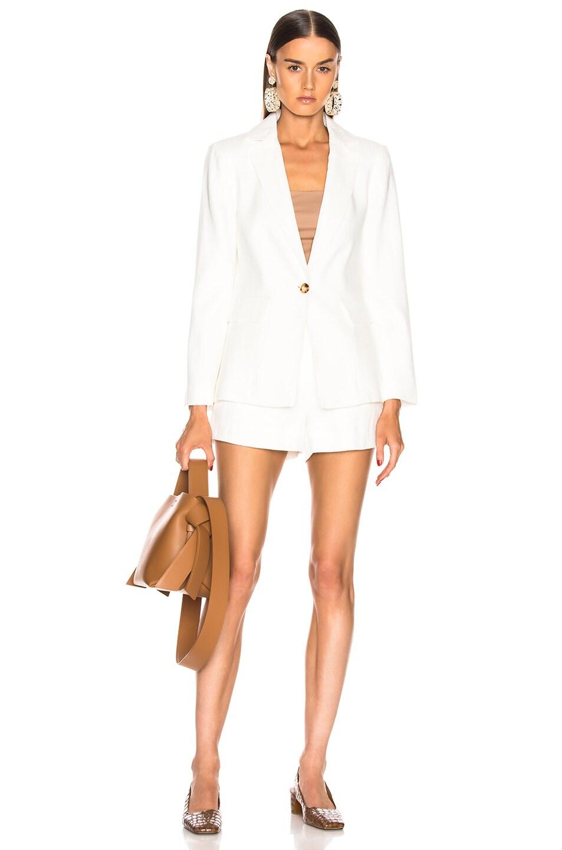 Image 5 of FRAME Classic Fine Blazer in Off White