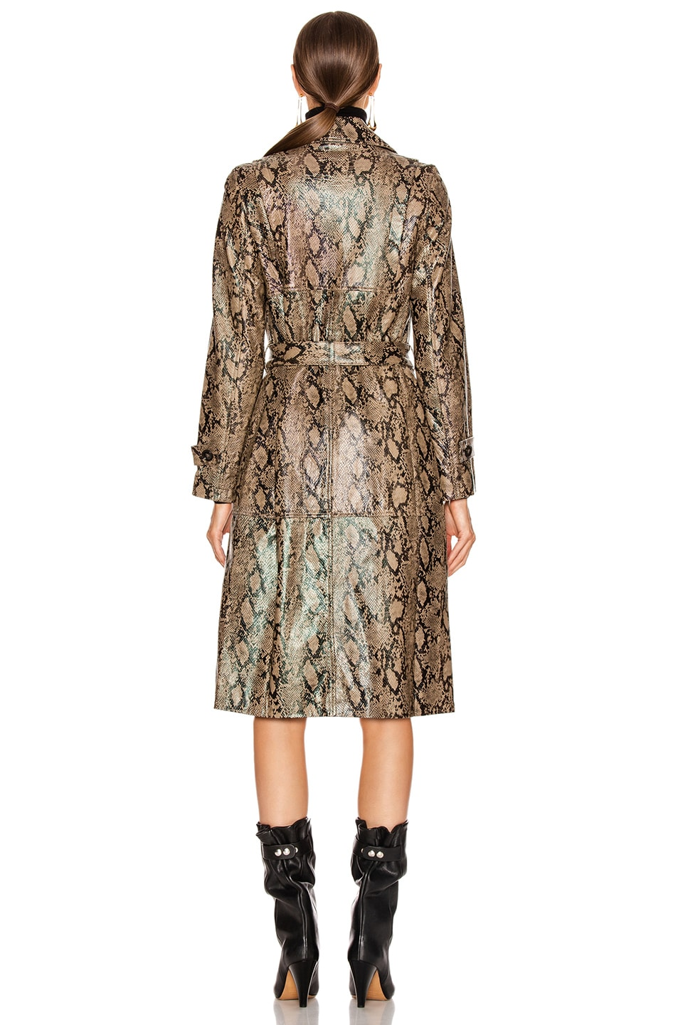 Image 4 of FRAME Embossed Python Trench in Brown Multi