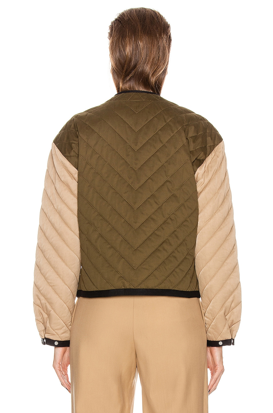 Image 4 of FRAME Quilted Colorblock Jacket in Cargo Multi