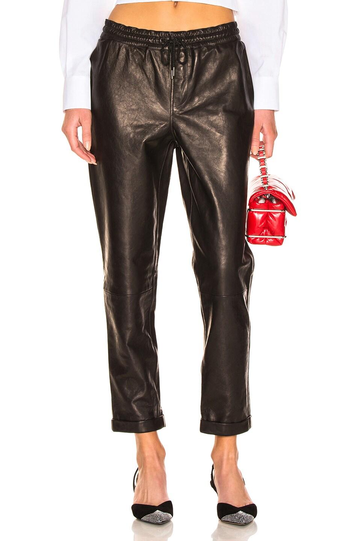 Image 1 of FRAME Pull On Trouser in Noir