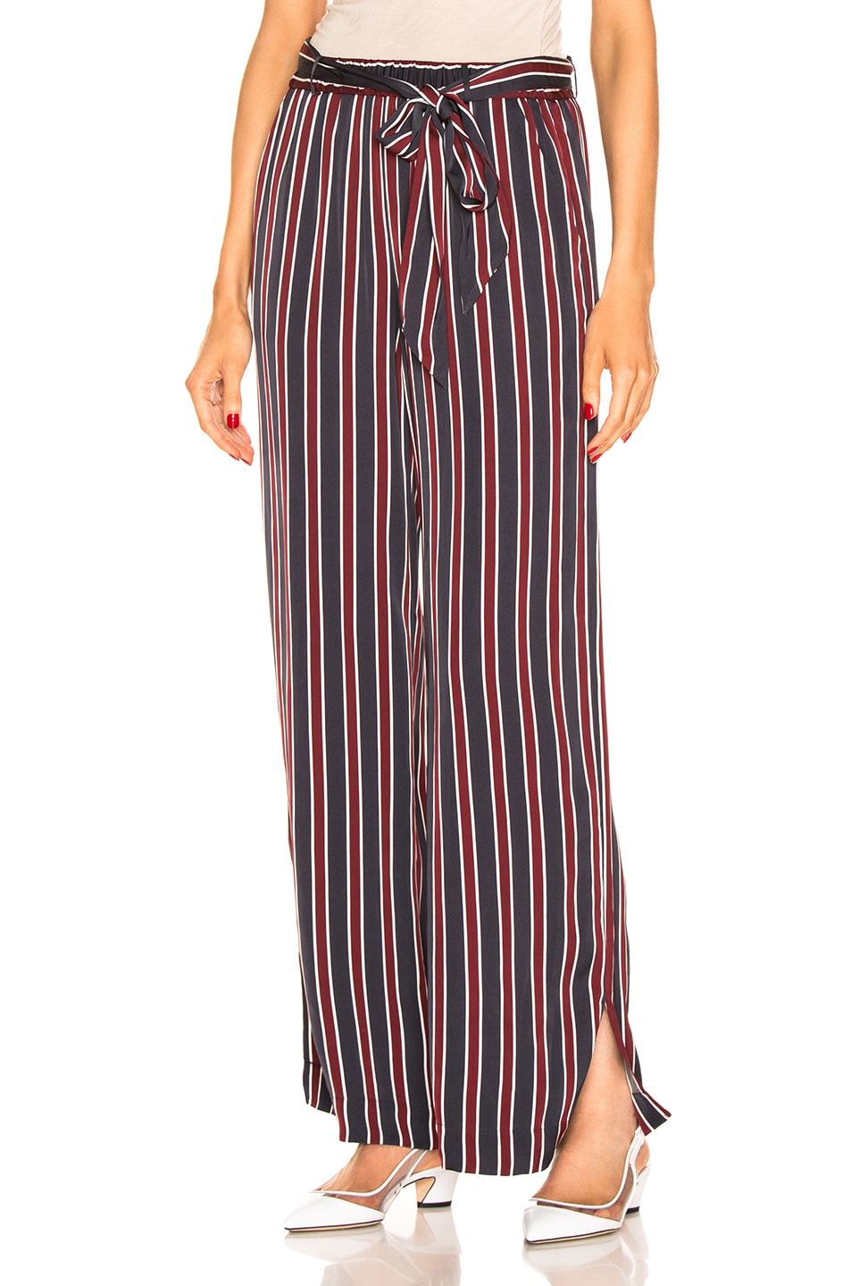 Image 1 of FRAME Side Slit Easy Pant in Navy Multi